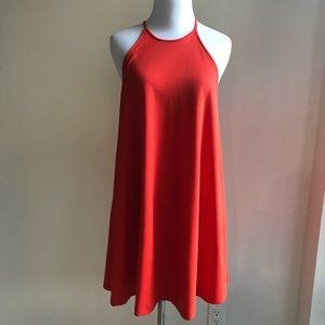 Zara orange halter tank dress